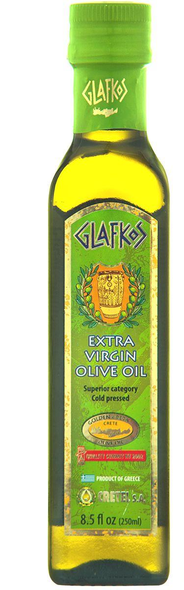 Glafkos Extra Virgin масло оливковое, 250 мл8437013265386Оливковое масло Glafkos Extra Virgin - получено путем первого холодного механического отжима, благодаря чему масло сохранило все полезные витамины и минеральные вещества содержащиеся в оливках. Оно произведено исключительно из оливок отборного качества сорта Коронейки, плоды внимательно и бережно собраны на южном побережье острова Крит в районе Мессара (Греция), который является одним из наиболее благоприятных мест на планете для выращивания оливок. Масло имеет насыщенный мягкий вкус олив, слегка горьковатое послевкусие, приятный пряный аромат и яркий золотисто-зеленый цвет, относится к классу Extra Virgin и является абсолютно натуральным продуктом. Не содержит никаких примесей и добавок. Продукт становится мутным при низкой температуре, что не влияет на качество оливкового масла. Один из главных показателей качества оливкового масла - кислотность, в оливковом масле Glafkos Extra Virgin не превышает 0,8%.