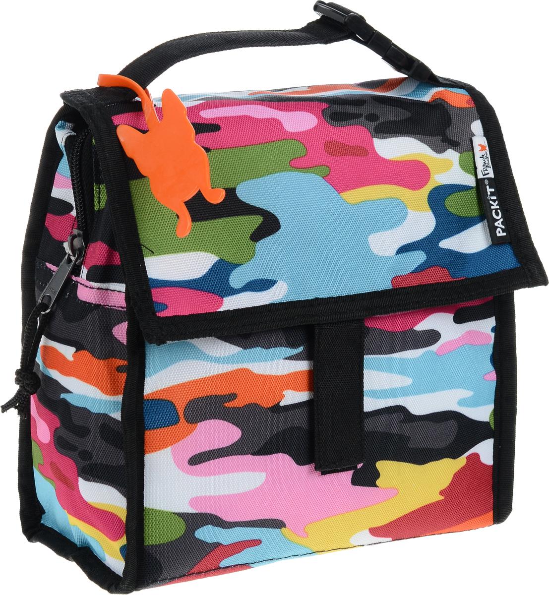 """Сумка-холодильник Packit """"Lunch Bag"""", цвет: черный, розовый, голубой, 1,9 л"""