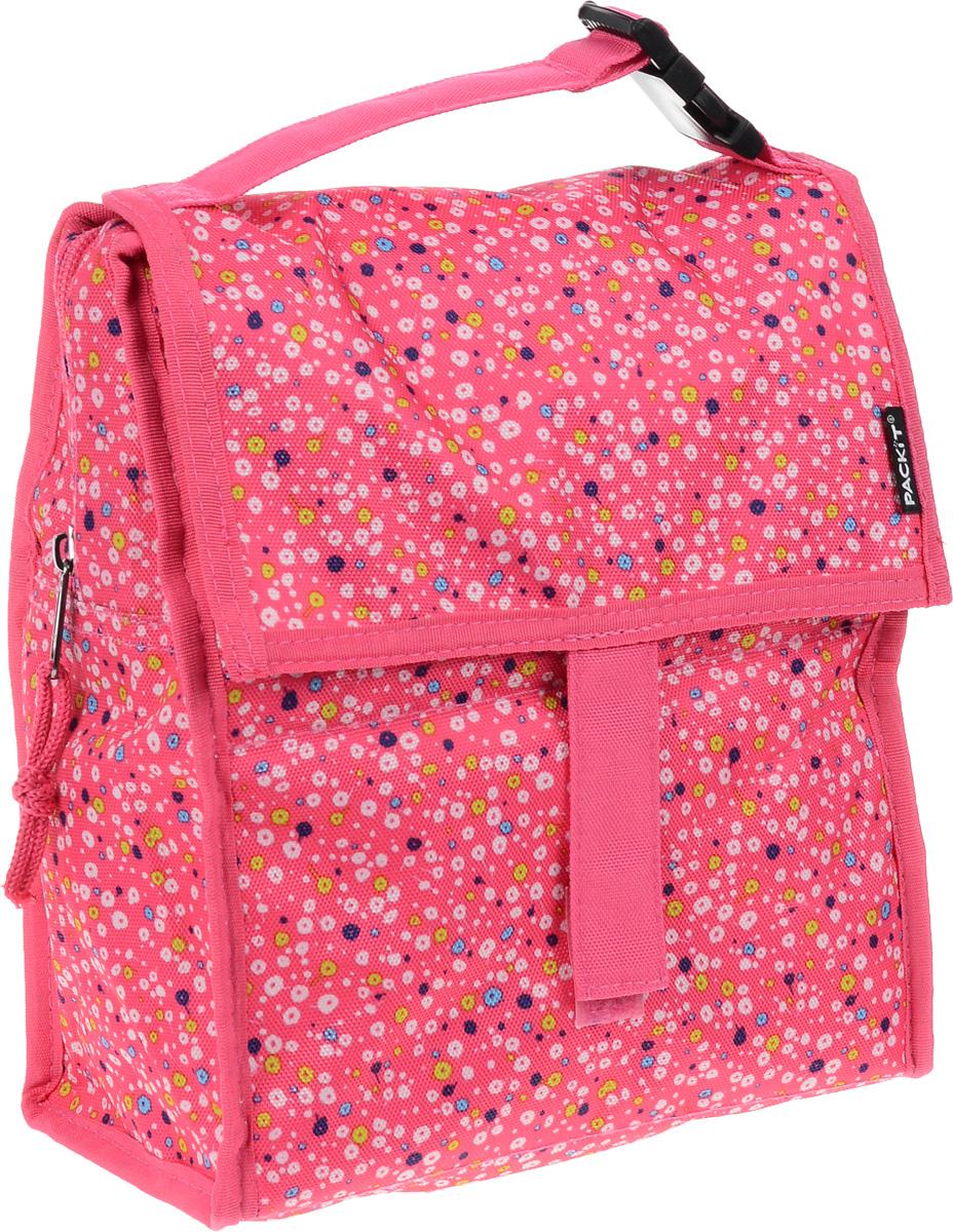 Сумка-холодильник Packit Lunch Bag, складная, цвет: розовый, белый, синий, 4,5 л6.295-875.0Сумка - холодильник Packit Lunch Bag предназначена для транспортировки и хранения продуктов и напитков. Сумка изготовлена из ПВХ, BPA - Free (без содержания бисфенол А), внутренняя поверхность - из специального термоизоляционного материала, который надежно удерживает холод внутри. Для удобной переноски сумка снабжена ручкой с пластиковой защелкой. Сумка - холодильник закрывается на застежку молнию и фиксируется липучками. Охлаждение содержимых в сумке продуктов в течение 10-12 часов. Размер сумки: 21 х 12 х 26 см.