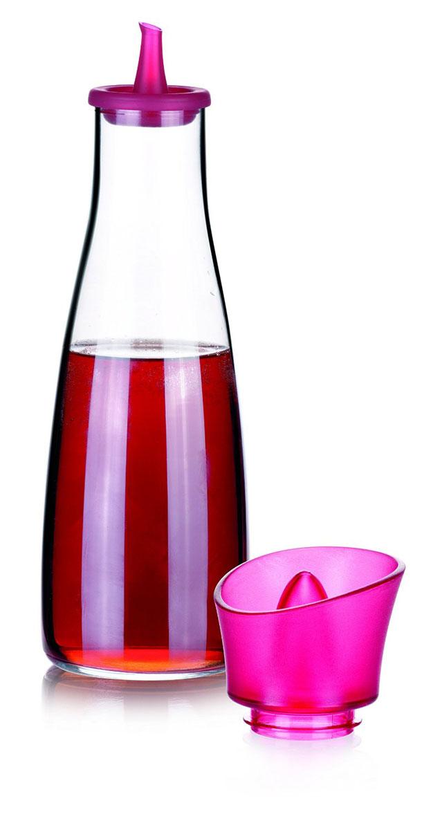 Емкость для масла и уксуса Tescoma Vitamino, цвет: фуксия, прозрачный, 500 млLU-1853Емкость для масла Tescoma Vitamino, выполненная из высококачественного боросиликатного стекла, позволит украсить любую кухню. Она внесет разнообразие как в строгий классический стиль, так и в современный кухонный интерьер. Легка в использовании, стоит только перевернуть, и вы с легкостью сможете добавить масло. Изделие оснащено воронкой из силикона и крышкой из прочной пластмассы. Оригинальная емкость будет отлично смотреться на вашей кухне.Изделие пригодно для мытья в посудомоечной машине.Высота емкости (с учетом крышки): 25 см.