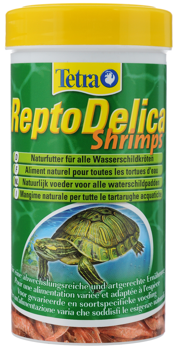 Корм для водных черепах Tetra Repto Delica Shrimps, креветки, 20 г169241Корм Tetra Repto Delica Shrimps - дополнительный корм-лакомство для плотоядных черепах. Здоровая природная еда для водных черепах. Цельные сублимированные креветки для удовольствия и разнообразного питания. Корм богат минералами для здорового развития костей и панциря. Repto Delica Shrimps идеально подходит как дополнительная добавка к корму Tetra ReptoMin. Вес: 20 г. Товар сертифицирован.