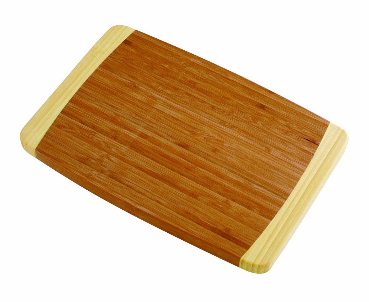 Доска разделочная Tescoma Bamboo, 36 х 24 см115510Разделочная доска Tescoma Bamboo станет незаменимым атрибутом приготовления пищи. Она выполнена из первоклассной высокопрочной древесины бамбука и идеально подходит для разделки мяса, рыбы, приготовления теста и нарезки любых продуктов, а особый дизайн ее поверхности предотвращает скольжение ножа. Современный стильный дизайн и функциональность разделочной доски Tescoma Bamboo позволит занять достойное место на вашей кухне.Размер доски: 36 см х 24 см.
