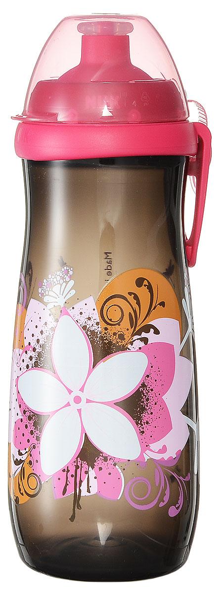 NUK Бутылочка-поильник Sports Cup с силиконовой насадкой от 36 месяцев цвет темно-серый 450 мл