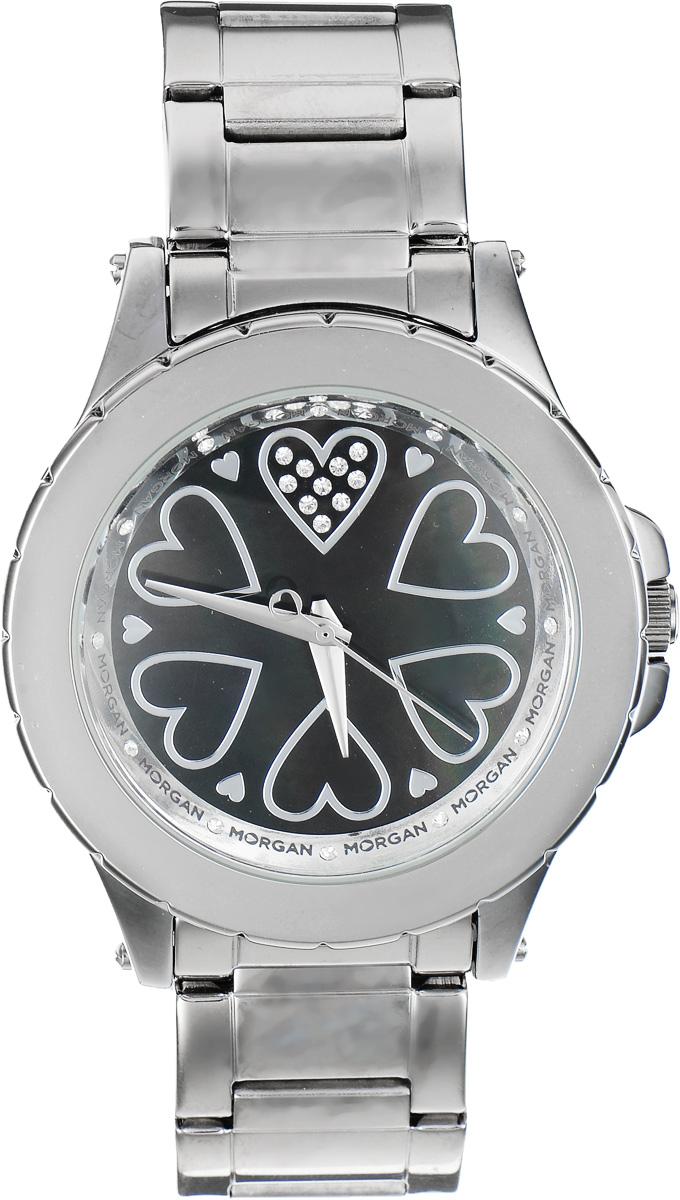 Часы наручные женские Morgan, цвет: стальной. M1128BMBKBM8434-58AEЭлегантные часы Morgan выполнены из стали, инкрустированы сияющими чешскими кристаллами и оформлены символикой бренда. Циферблат украшен вставкой из перламутра. Лаконичный корпус часов надежно защищен устойчивым к царапинам минеральным стеклом. Часы оснащены кварцевым механизмом, дополнены изящным браслетом, который застегивается на замок-клипсу.Изделие поставляется в фирменной упаковке.Часы Morgan подчеркнут изящество женской руки и отменное чувство стиля у их обладательницы.
