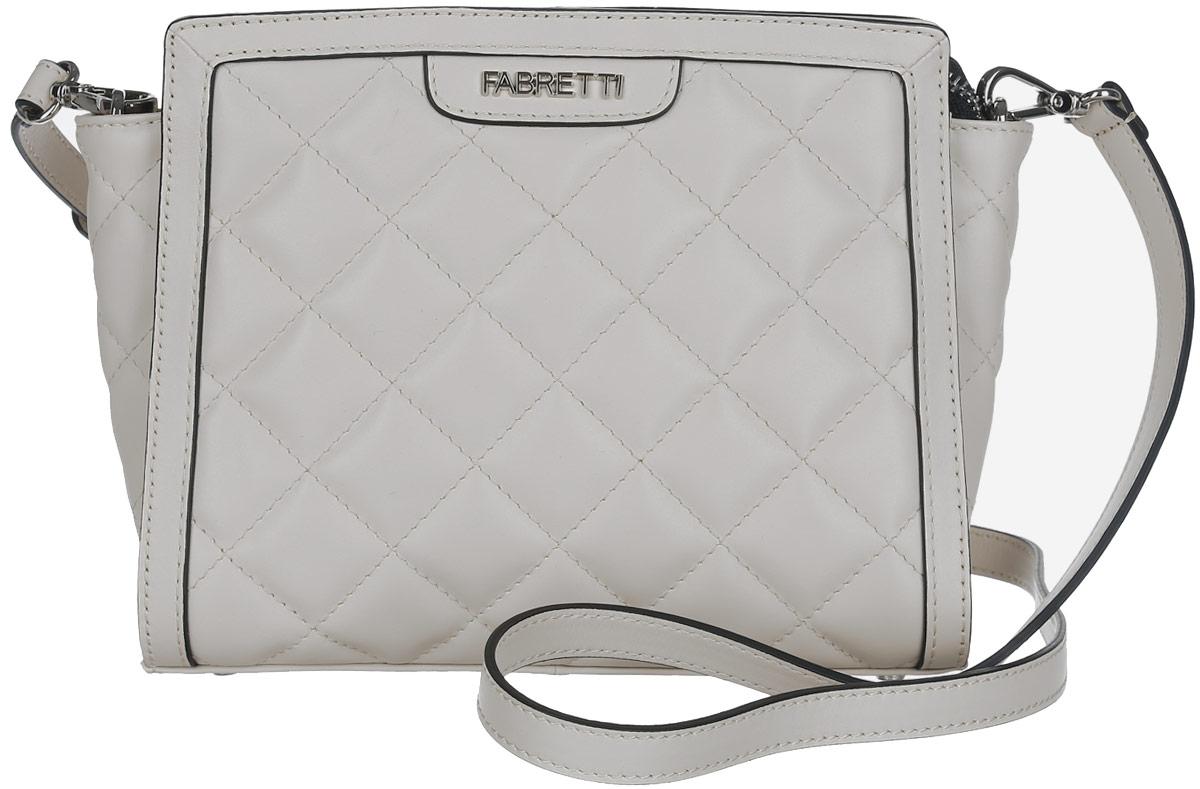 Сумка женская Fabretti, цвет: бежевый. F13983C2-11423008Стильная женская сумка Fabretti выполнена из натуральной кожи.Изделие содержит одно отделение, которое закрывается на застежку-молнию. Внутри расположен один накладной кармашек для мелочей и врезной карман на молнии. Снаружи, на задней стороне сумки, расположен врезной карман на застежке-молнии. Сумка оснащена съемным плечевым ремнем, который можно регулировать по длине.Оригинальный аксессуар позволит вам завершить образ и быть неотразимой.