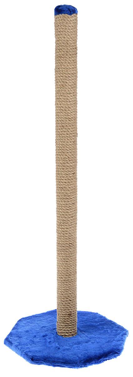 Когтеточка ЗооМарк, на подставке, цвет: синий, бежевый, высота 100 смД126 ТКогтеточка ЗооМарк поможет сохранить мебель и ковры в доме от когтей вашего любимца, стремящегося удовлетворить свою естественную потребность точить когти. Когтеточка изготовлена из дерева, искусственного меха и джута. Товар продуман в мельчайших деталях и, несомненно, понравится вашей кошке. Всем кошкам необходимо стачивать когти. Когтеточка - один из самых необходимых аксессуаров для кошки. Для приучения к когтеточке можно натереть ее сухой валерьянкой или кошачьей мятой. Когтеточка поможет вашему любимцу стачивать когти и при этом не портить вашу мебель.Размер основания: 39 х 39 см.Высота когтеточки: 100 см.