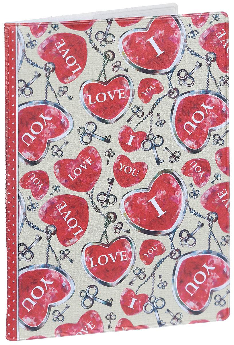 Обложка для паспорта женская Magic Home Сердца, цвет: красный, бежевый. 41582O.30.CH.бирюзовыйСтильная обложка для паспорта Magic Home Сердца выполнена из поливинилхлорида, оформлена принтом с изображением сердечек.Внутри изделия расположены два прозрачных кармашка из ПВХ.Такая обложка станет отличным подарком для человека, который ценит качественные и практичные вещи.