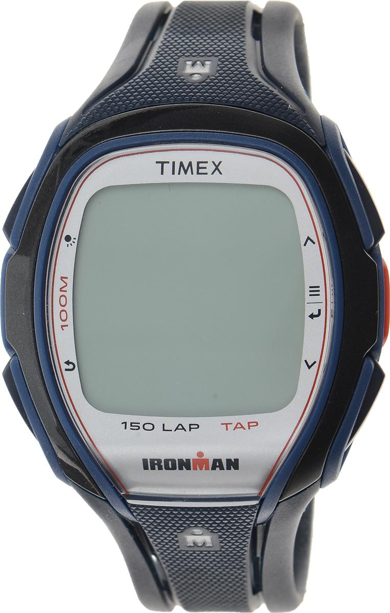 Часы наручные мужские Timex Sleek Premium, цвет: темно-синий, черный. TW5K96500BM8434-58AEСтильные мужские часы Timex Sleek Premium - это модный и практичный аксессуар, который не только выгодно дополнит ваш образ, но и будет незаменим для каждого современного мужчины, ценящего свое время. Корпус выполнен из пластика и оснащен задней крышкой из нержавеющей стали. Циферблат оснащен запатентованной электролюминесцентной подсветкой Indiglo и оформлен символикой бренда.Корпус изделия имеет степень влагозащиты 10 Bar, оснащен кварцевым механизмом и дополнен устойчивым к царапинам хезалитовым стеклом. Прочный и устойчивый к выцветанию ремешок выполнен из силикона и дополнен пряжкой, которая позволяет с легкостью снимать и надевать изделие. Часы имеют функции счетчика пульса, секундомера и интервального таймера. Часы поставляются в фирменной упаковке. Часы Timex подчеркнут ваш неповторимый стиль и дополнят любой наряд.