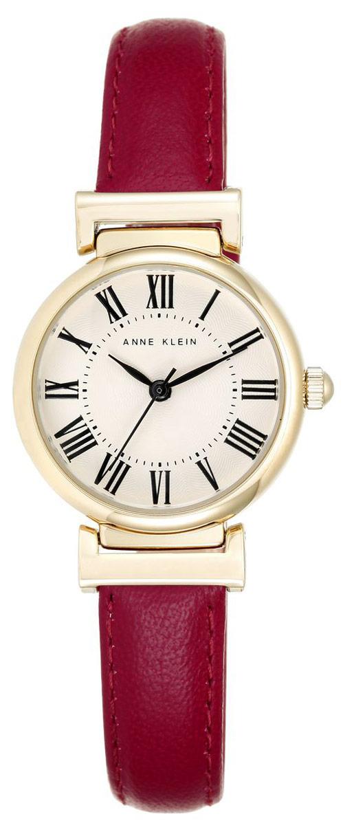 Часы наручные женские Anne Klein Daily, цвет: золотистый, красный. 2246BM8434-58AEЭлегантные женские часы Anne Klein Daily выполнены из металлического сплава и оформлены символикой бренда. Лаконичный корпус надежно защищен устойчивым к царапинам минеральным стеклом, а также имеет степень влагозащиты 3 Bar. Часы оснащены кварцевым механизмом, дополнены изящным ремешком из натуральной кожи. Ремешок застегивается на практичную пряжку.Часы поставляются в фирменной упаковке.Часы Anne Klein Daily подчеркнут изящество женской руки и отменное чувство стиля у их обладательницы.