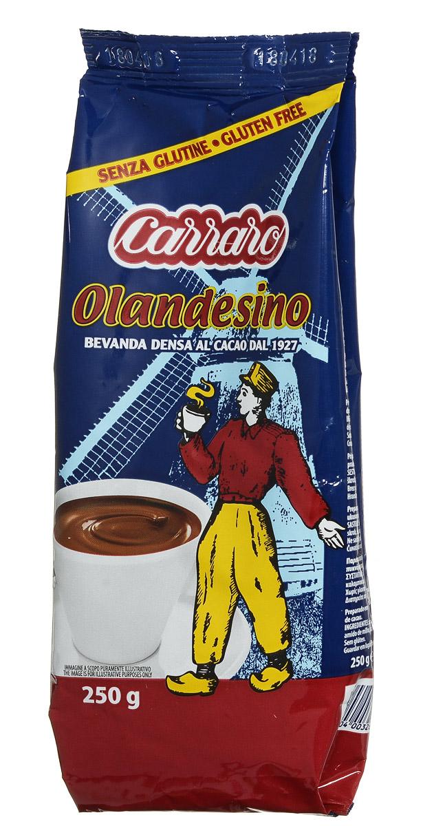Carraro Olandesino растворимый шоколад, 250 г0120710Carraro Olandesino – это горячий быстрорастворимый шоколад, цветочный вкус которого ни с чем не перепутать. Чашка горячего шоколада – прекрасное наслаждение, особенно в холодную пору.