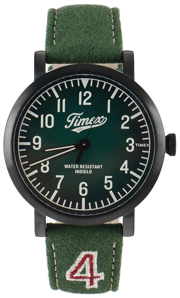 Часы наручные мужские Timex Originals, цвет: зеленый. TW2P83300BM8434-58AEСтильные мужские часы Timex Originals - это модный и практичный аксессуар, который не только выгодно дополнит ваш образ, но и будет незаменим для каждого современного мужчины, ценящего свое время. Корпус выполнен из нержавеющей стали. Циферблат оснащен запатентованной электролюминесцентной подсветкой Indiglo и оформлен логотипом бренда.Корпус изделия имеет степень влагозащиты 3 Bar, оснащен кварцевым механизмом и дополнен устойчивым к царапинам минеральным стеклом. Прочный и устойчивый к выцветанию ремешок имеет покрытие из натуральной кожи и дополнен пряжкой, которая позволяет с легкостью снимать и надевать изделие.Часы поставляются в фирменной упаковке.Часы Timex подчеркнут ваш неповторимый стиль и дополнят любой наряд.