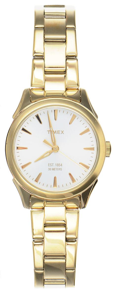 Часы наручные женские Timex Style Elevated, цвет: золотистый. TW2P81800BM8434-58AEЭлегантные женские часы Timex Style Elevated выполнены из металлического сплава и нержавеющей стали, оформлены символикой бренда. Лаконичный корпус надежно защищен устойчивым к царапинам минеральным стеклом, а также имеет степень влагозащиты 3 Bar. Часы оснащены кварцевым механизмом, дополнены изящным браслетом, который застегивается на практичную пряжку.Часы поставляются в фирменной упаковке.Часы Timex Style Elevated подчеркнут изящество женской руки и отменное чувство стиля у их обладательницы.