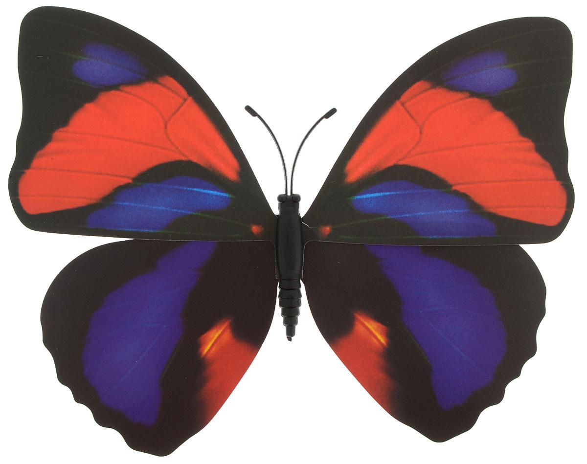 Декоративное украшение Village people Тропическая бабочка, с магнитом, цвет: черный, красный, фиолетовый (20), 12 х 8 смБрелок для ключейДекоративная фигурка Village People Тропическая бабочка, изготовленная из ПВХ и магнита, это не только красивое украшение, но и замечательный способ отпугнуть птиц с грядок. Изделие выполнено в виде бабочки и оснащено магнитом, с помощью которого вы сможете поместить изделие в любом удобном для вас месте. Яркий дизайн изделия оживит ландшафтсада.
