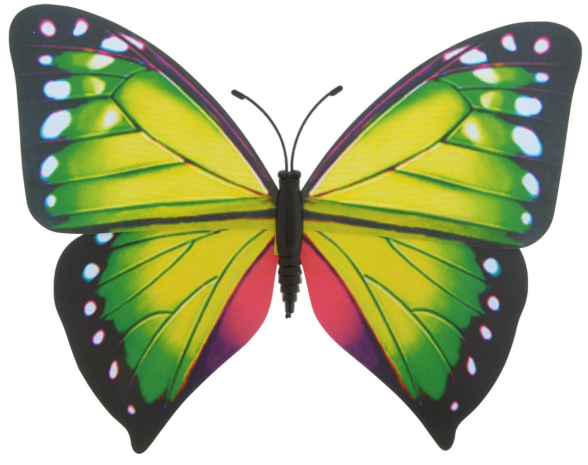 Декоративное украшение Village people Тропическая бабочка, с магнитом, цвет: зеленый, болотный (18), 12 х 8 смБрелок для ключейДекоративная фигурка Village People Тропическая бабочка, изготовленная из ПВХ и магнита, это не только красивое украшение, но и замечательный способ отпугнуть птиц с грядок. Изделие выполнено в виде бабочки и оснащено магнитом, с помощью которого вы сможете поместить изделие в любом удобном для вас месте. Яркий дизайн изделия оживит ландшафтсада.