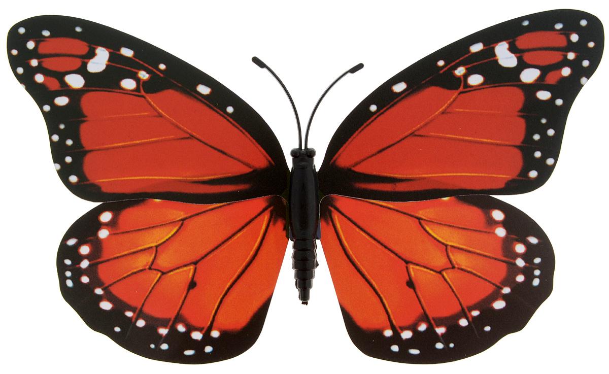 Декоративное украшение Village people Тропическая бабочка, с магнитом, цвет: черный, красный (9), 12 х 8 смБрелок для ключейДекоративная фигурка Village People Тропическая бабочка, изготовленная из ПВХ и магнита, это не только красивое украшение, но и замечательный способ отпугнуть птиц с грядок. Изделие выполнено в виде бабочки и оснащено магнитом, с помощью которого вы сможете поместить изделие в любом удобном для вас месте. Яркий дизайн изделия оживит ландшафтсада.