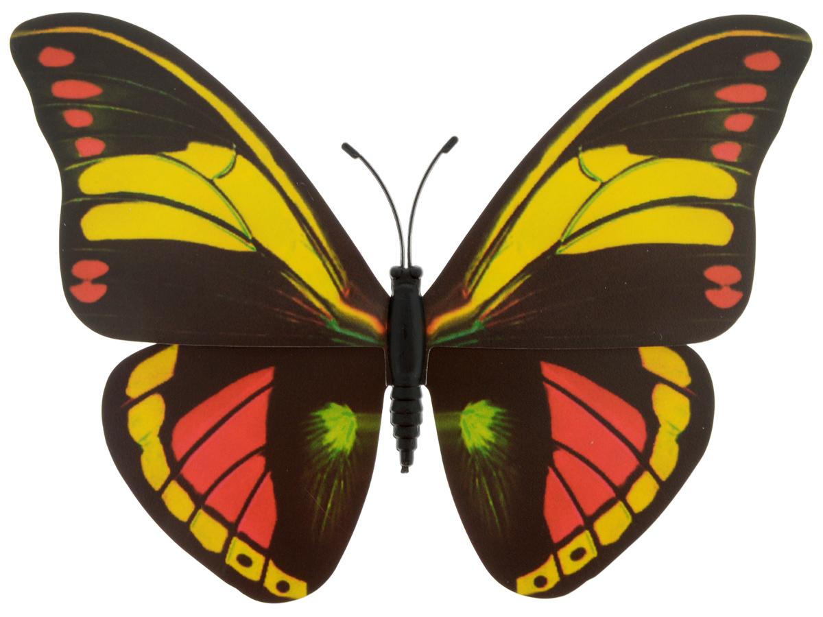 Декоративное украшение Village people Тропическая бабочка, с магнитом, цвет: черный, желтый, красный (12), 12 х 8 см1744802Декоративная фигурка Village People Тропическая бабочка, изготовленная из ПВХ и магнита, это не только красивое украшение, но и замечательный способ отпугнуть птиц с грядок. Изделие выполнено в виде бабочки и оснащено магнитом, с помощью которого вы сможете поместить изделие в любом удобном для вас месте. Яркий дизайн изделия оживит ландшафтсада.