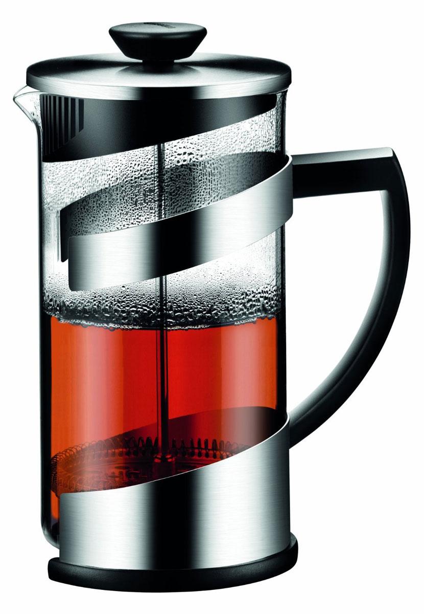 Заварной чайник-кофейник Tescoma TEO 1 л68/5/4Френч пресс отлично подходит для заваривания чая или кофе. Сделан из термостойкого стекла, высококачественной нержавеющей стали (матовая) и прочной пластмассы. Инструкция по приготовлению напитков внутри. Стекляную банку можно мыть в посудомоечной машине, остальные части нельзя мыть в посудомоечной машине.