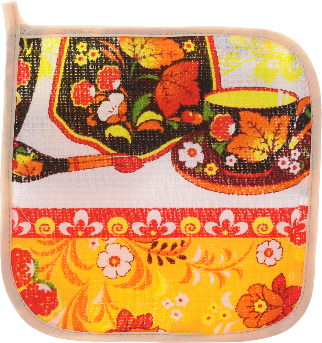 Прихватка Roko, 17 х 17 см. 115358BH-UN0502( R)Прихватка Roko - незаменимый помощник на любой кухне. Изделие выполнено натурального 100% хлопка и оформлено красочным принтом. Прихватка мягкая, удобная и практичная. Она защитит ваши руки и предотвратит появление ожогов. Оригинальный дизайн позволит красиво дополнить интерьер кухни. С помощью текстильной петельки прихватку можно подвесить на крючок.Уважаемые клиенты! Товар поставляется в цветовом ассортименте. Поставка осуществляется в зависимости от наличия на складе.