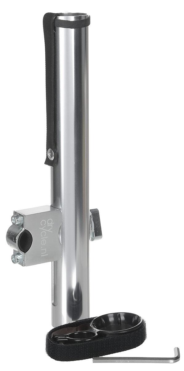 Держатель для зонта Senz, цвет: серый. 5010001CX1516-50-10Держатель для зонта Senz это отличное решение для комфортной езды на велосипеде в дождливую погоду. Металлический держатель производится специально для зонтов-тростей Senzo Original и Smart.Зафиксировав держатель на руле и закрепив на него зонт Senzo, вы сможете спокойно управлять велосипедом обеими руками. Эта конструкция обеспечивает идеальный панорамный вид, благодаря укороченной стороне зонта. Когда дождь закончится, держатель можно легко повернуть вниз, зонт зафиксировать в специальном кольце и продолжить поездку.В комплекте с держателем поставляется инструкция по установке, фиксатор для зонта и шестигранный ключ.