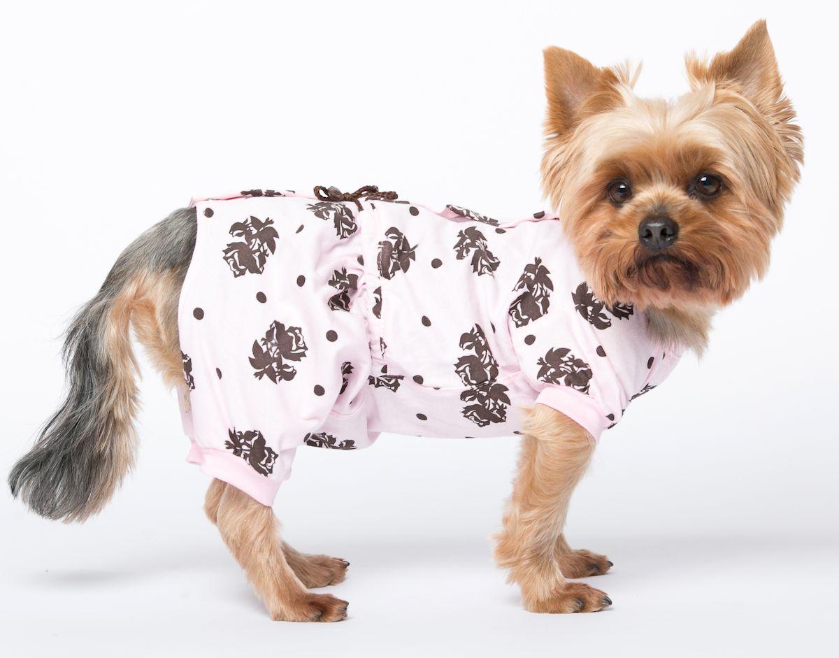 Комбинезон для собак Yoriki Розы, для девочки. 400-22. Размер МDM-160102-1_оранжОбхват шеи: 25 см.Обхват груди: 39 см. Длина спины: 24 см.