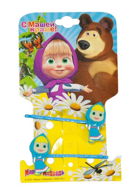 Маша и медведь Заколка-Невидимка Маша цвет голубой 2 штСерьги с подвескамиЗамечательный подарок вашей малышке с любимой героиней Машей. Длина заколки: 5,5 см.