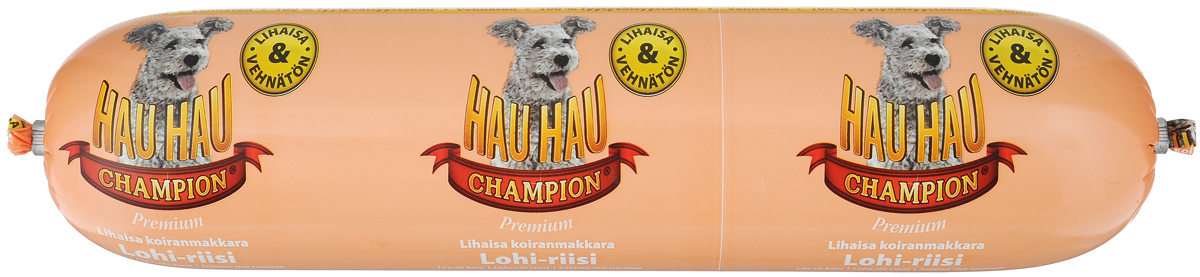 Колбаса для собак Hau-Hau, из лосося с рисом, 800 г0120710Колбаса для собак Hau-Hau содержит большое количество мяса и подходит для собак любых размеров. Колбаса изготовлена из свежего мяса и рыбы, содержание которых не менее 95%. Как связующее вещество используется мелкомолотый рис, продукт также обогащен витаминами и минералами. Колбаса не содержит пшеницы, красителей и консервантов.До вскрытия упаковки можно хранить при комнатной температуре. Открытый продукт следует хранить в холодильнике в течение 2-3 дней. Товар сертифицирован.