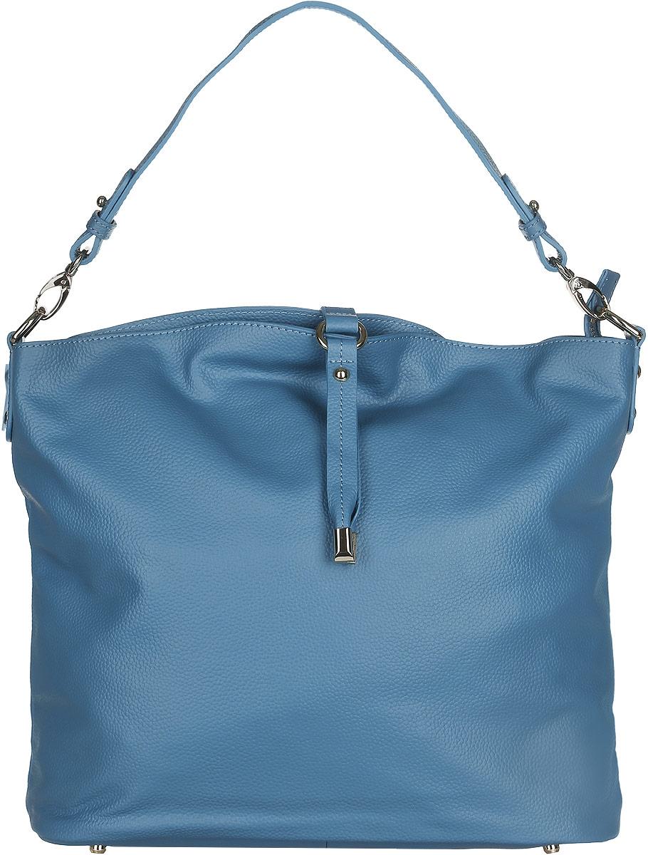 Сумка женская Fabretti, цвет: синий. N253010931-1Стильная женская сумка Fabretti выполнена из натуральной кожи с фактурным тиснением и дополнена декоративным хлястиком.Изделие содержит одно вместительное отделение, которое закрывается на застежку-молнию. Внутри расположены два накладных кармашка для мелочей, карман-средник на застежке-молнии и два врезных кармана на молнии. Снаружи, на задней стороне сумки, расположен врезной карман на застежке-молнии. Сумка оснащена ручкой. Дно сумки дополнено металлическими ножками. Оригинальный аксессуар позволит вам завершить образ и быть неотразимой.