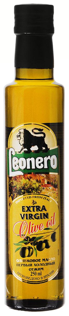 Leonero Extra Virgin оливковое масло, 250 г0120710Leonero Extra Virgin - 100% натуральное нерафинированное оливковое масло. Продукт первого холодного прессования плодов оливкового дерева исключительно механическим способом. Это масло рекомендуется для салатов, овощных соусов, гарниров и маринадов. Вкус: мягкий, не терпкий, без горчинки, с приятным ароматом свежевыжатых оливок.