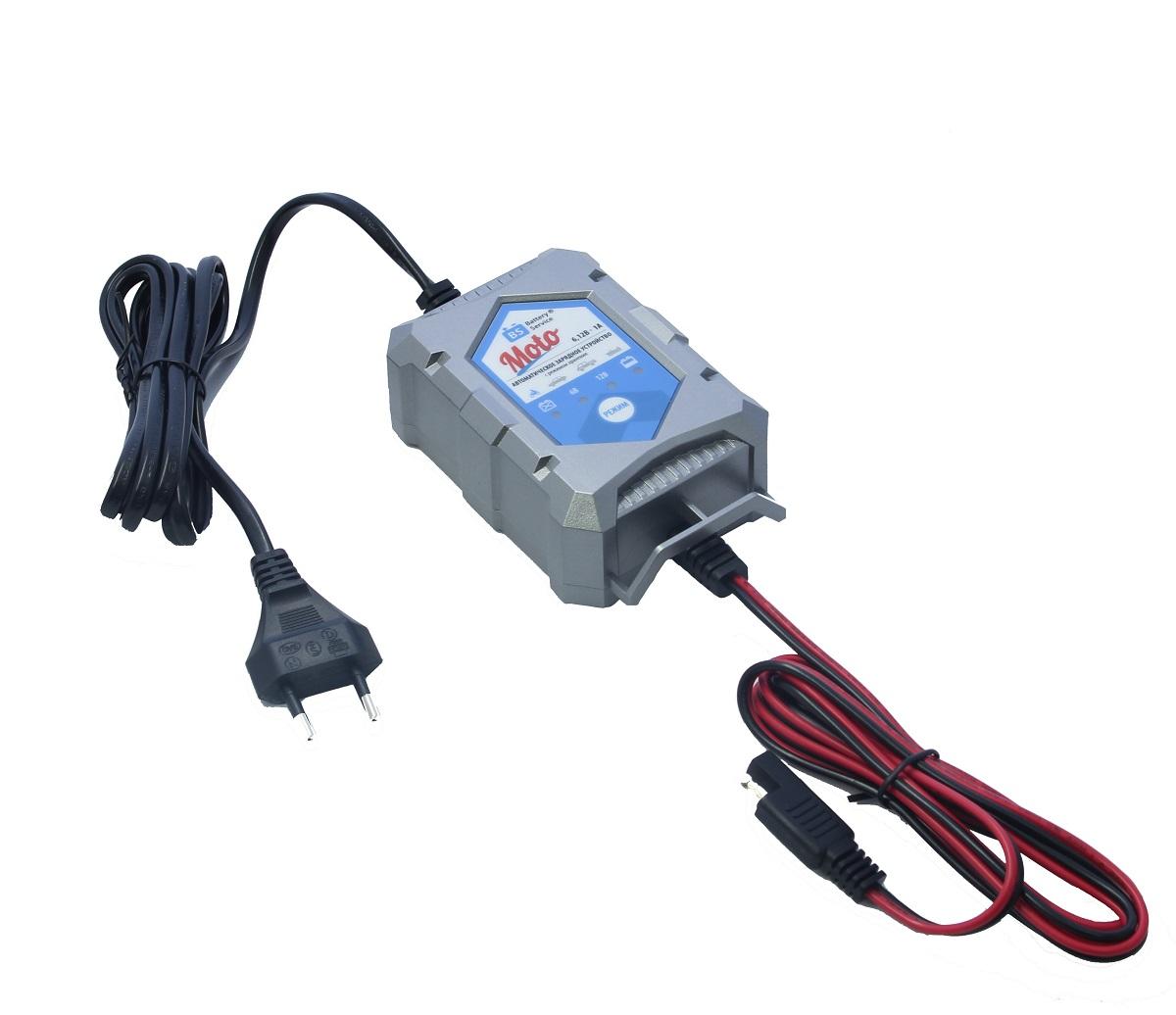 Зарядное устройство Battery Service Moto. PL-C001PVA4211 B00Многоступенчатое зарядное устройство Battery Service Moto с режимами восстановления глубокоразряженных аккумуляторных батарей, десульфатации и хранения. Интеллектуальное управление микропроцессором. Заряжает все типы 6В и 12В свинцово-кислотных аккумуляторных батарей, в т.ч. AGM, GEL. Защита от короткого замыкания, переполюсовки, перегрева. Гарантия 2 года. Пыле и влагозащищенный корпус IP65. Moto рекомендуется для АКБ от 1,2 Ач до 24 Ач. Ток зарядки: 1,0А. Восстановление АКБ разряженной до 4,5В. Температурный режим: -20...+40°С. В комплект устройства входят аксессуары: кольцевой разъем постоянного подключения и зажимы типа крокодил. Совместимо с аксессуарами сторонних производителей с разъемом SAE.