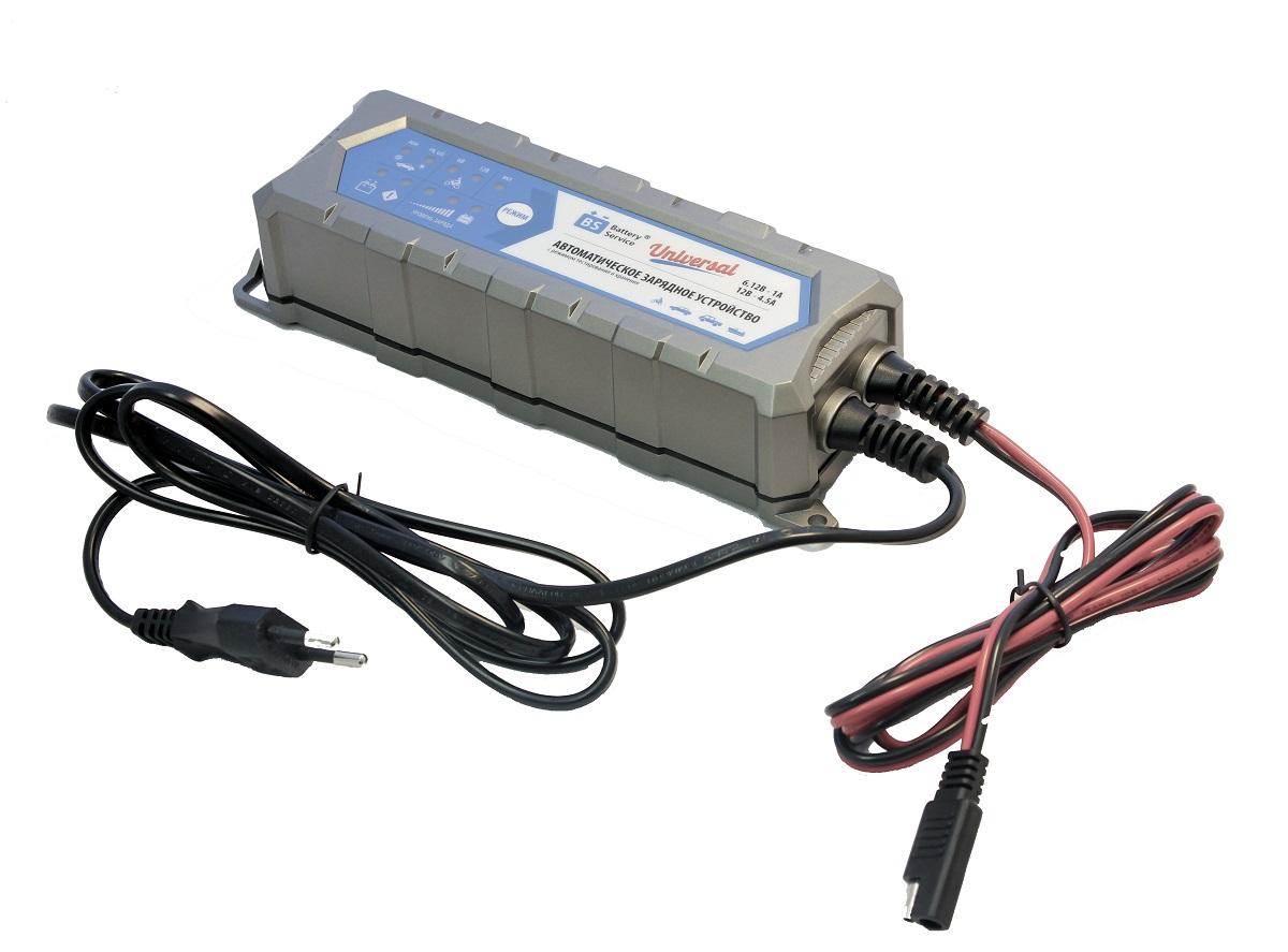 Зарядное устройство Battery Service Universal. PL-C004PVA4211 BD1Многоступенчатое зарядное устройство Battery Service Universal с режимами тестирования, восстановления глубокоразряженных аккумуляторных батарей, десульфатации и хранения. Интеллектуальное управление микропроцессором. Заряжает все типы 6В и 12В свинцово-кислотных аккумуляторных батарей, в т.ч. AGM, GEL. Защита от короткого замыкания, переполюсовки, перегрева. Гарантия 2 года. Пыле и влагозащищенный корпус IP65. Universal рекомендуется для АКБ до 120 Ач. Ток зарядки: 6В/12В - 1,0А и 12В - 4,5А. Восстановление АКБ разряженной до 4В. Температурный режим -20...+40°С. В комплект устройства входят аксессуары - кольцевой разъем постоянного подключения и зажимы типа крокодил. Совместимо с аксессуарами сторонних производителей с разъемом SAE.