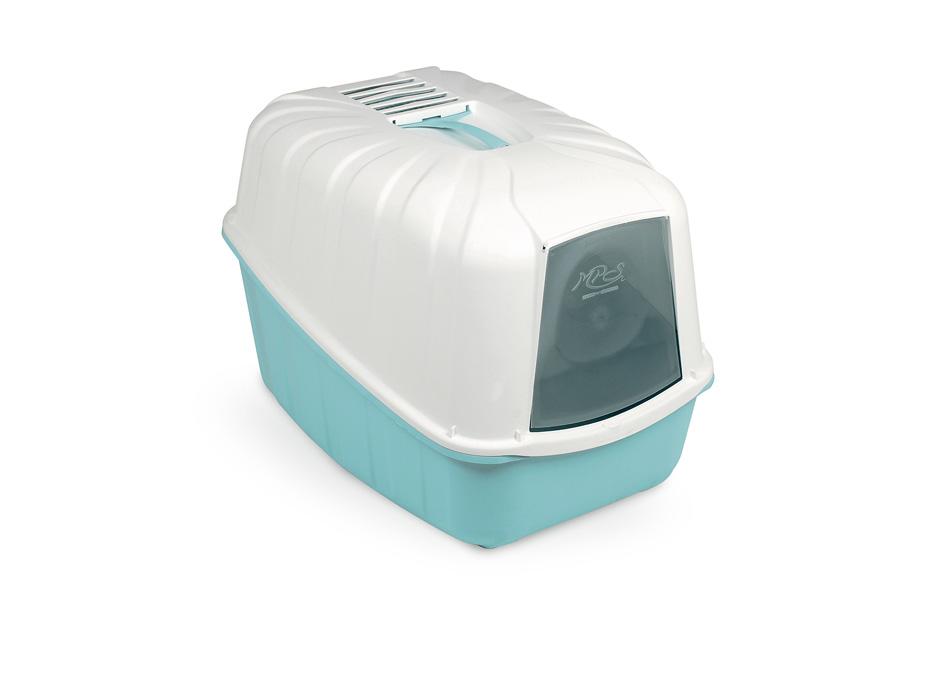 Био-туалет MPS Komoda, с совком, 54х39х40 см, цвет: аквамарин0120710Пластиковый био-туалет поможет защитить дом от неприятных запахов и придется по нраву даже самым привередливым питомцам.В отличие от обычных лотков био-туалет Komoda имеет специальный фильтр, который быстро нейтрализует неприятные запахи, дверцу, через которую питомец легко попадает внутрь, а также совок для уборки. Совок закреплен на крыше туалета и служит ручкой, облегающей процесс транспортировки.С био-туалетом Komoda ваш питомец всегда будет чувствовать себя комфортно, а вам больше не придется по несколько раз в день убирать лоток. Фильтра хватает надолго!