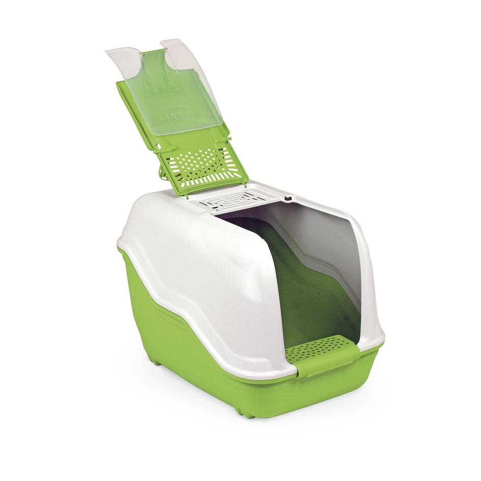 Био-туалет MPS Netta, с совком, цвет: белый, салатовый, 54 х 39 х 40 см0120710Пластиковый био-туалет поможет защитить дом от неприятных запахов и придется по нраву даже самым привередливым питомцам.В отличие от обычных лотков био-туалет Netta имеет специальный фильтр, который быстро нейтрализует неприятные запахи, дверцу, через которую питомец легко попадает внутрь, а также совок для уборки. Совок удобно закреплен на внутренней стороне крыши туалета. А наличие ручки облегает процесс транспортировки. На крыше туалета имеется отсек, через который удобно проводить уборку туалета.С био-туалетом Netta ваш питомец всегда будет чувствовать себя комфортно, а вам больше не придется по несколько раз в день убирать лоток. Фильтра хватает надолго!
