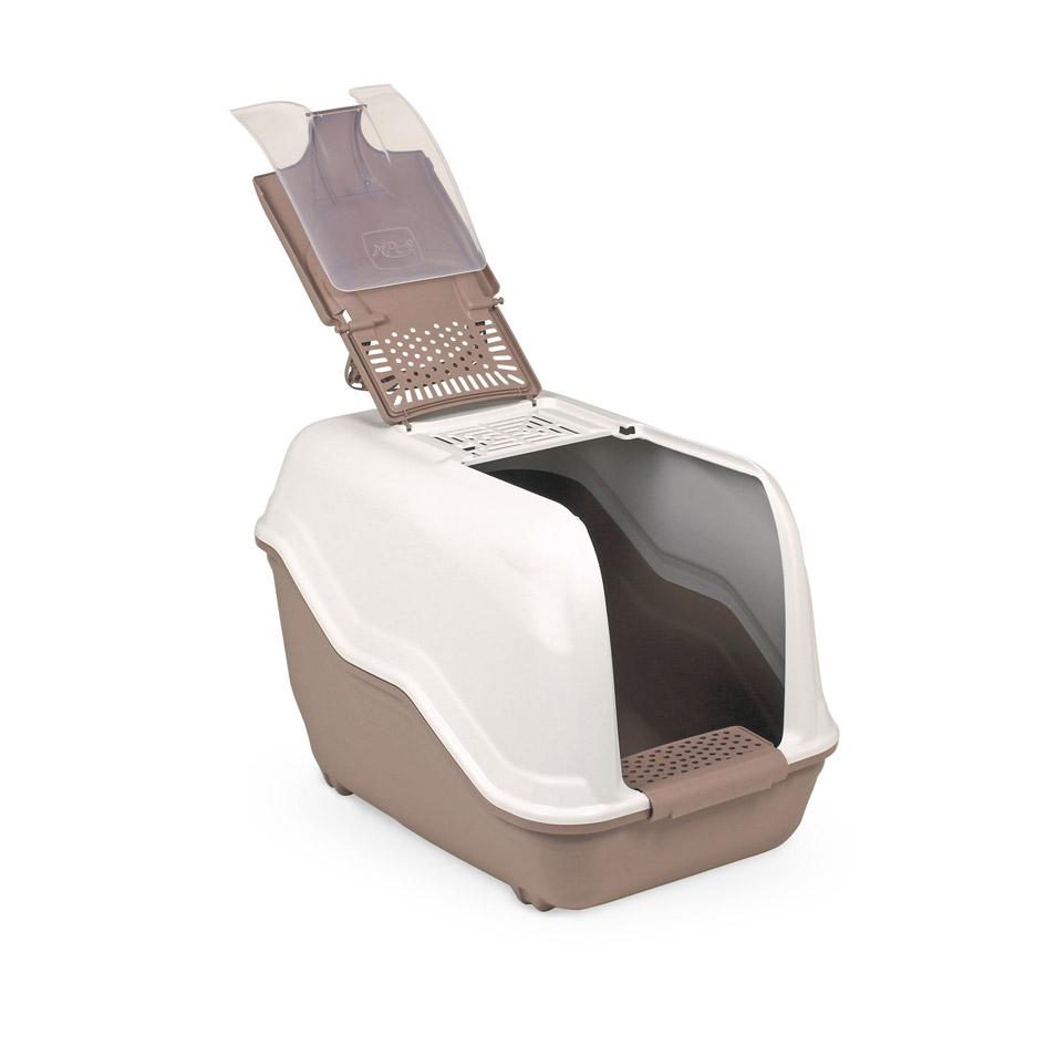 Био-туалет MPS Netta, с совком, цвет: бежевый, коричневый, 54 х 39 х 40 смS07110117_бежево-розовыйПластиковый био-туалет поможет защитить дом от неприятных запахов и придется по нраву даже самым привередливым питомцам. В отличие от обычных лотков био-туалет Netta имеет специальный фильтр, который быстро нейтрализует неприятные запахи, дверцу, через которую питомец легко попадает внутрь, а также совок для уборки. Совок удобно закреплен на внутренней стороне крыши туалета. А наличие ручки облегает процесс транспортировки. На крыше туалета имеется отсек, через который удобно проводить уборку туалета.С био-туалетом Netta ваш питомец всегда будет чувствовать себя комфортно, а вам больше не придется по несколько раз в день убирать лоток. Фильтра хватает надолго!