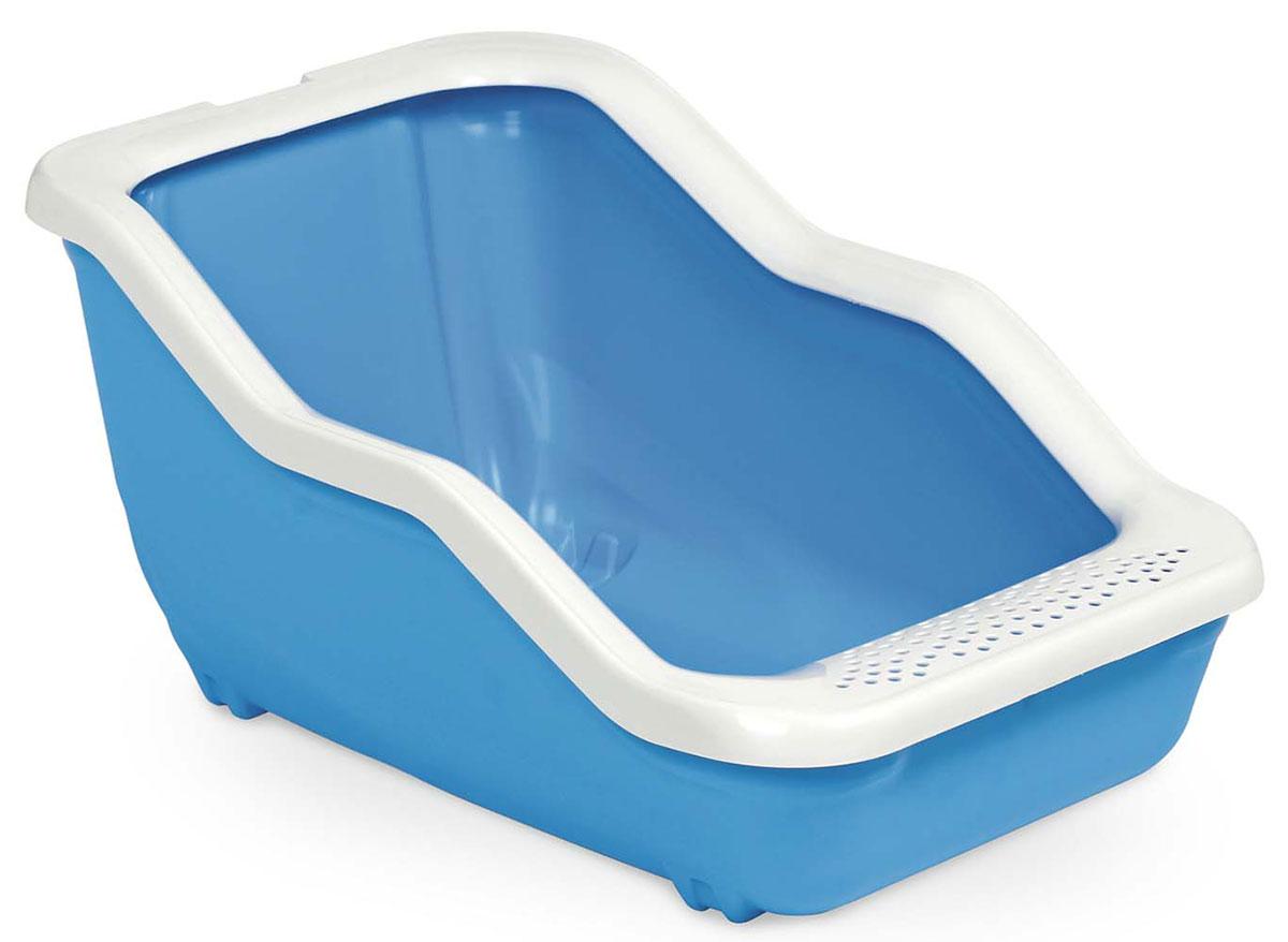 Туалет-лоток для животных MPS Netta Open, с рамкой, цвет: голубой, 54 х 39 х 29 см06215Туалет-лоток Netta - лучшее решение для содержания кошек и небольших собак.Современный и высококачественный пластик не впитывает неприятные запахи, которые так не любят животные, а также существенно упрощает процедуру уборки туалета - легко моется и быстро сохнет.Специальные широкие бортики, на которые питомец может встать, помогают сохранить его лапки чистыми и сухими.