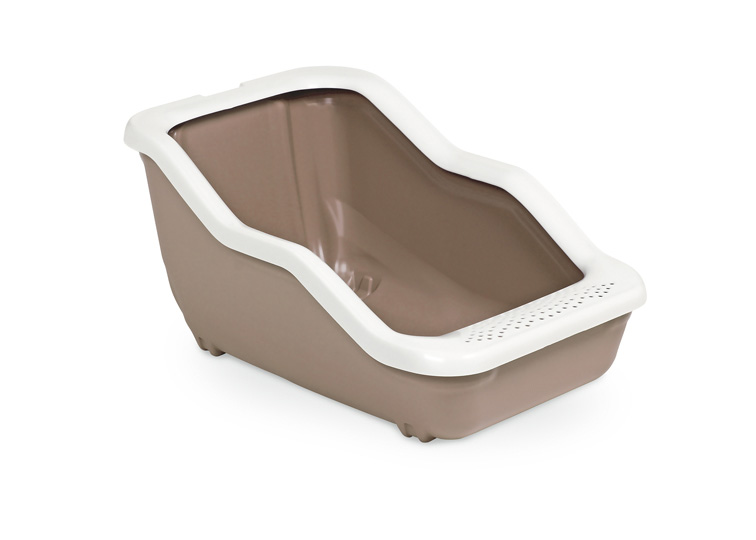 Туалет-лоток для животных MPS Netta Open, с рамкой, цвет: коричневый, 54 х 39 х 29 см0120710Туалет-лоток Netta - лучшее решение для содержания кошек и небольших собак.Современный и высококачественный пластик не впитывает неприятные запахи, которые так не любят животные, а также существенно упрощает процедуру уборки туалета - легко моется и быстро сохнет.Специальные широкие бортики, на которые питомец может встать, помогают сохранить его лапки чистыми и сухими.
