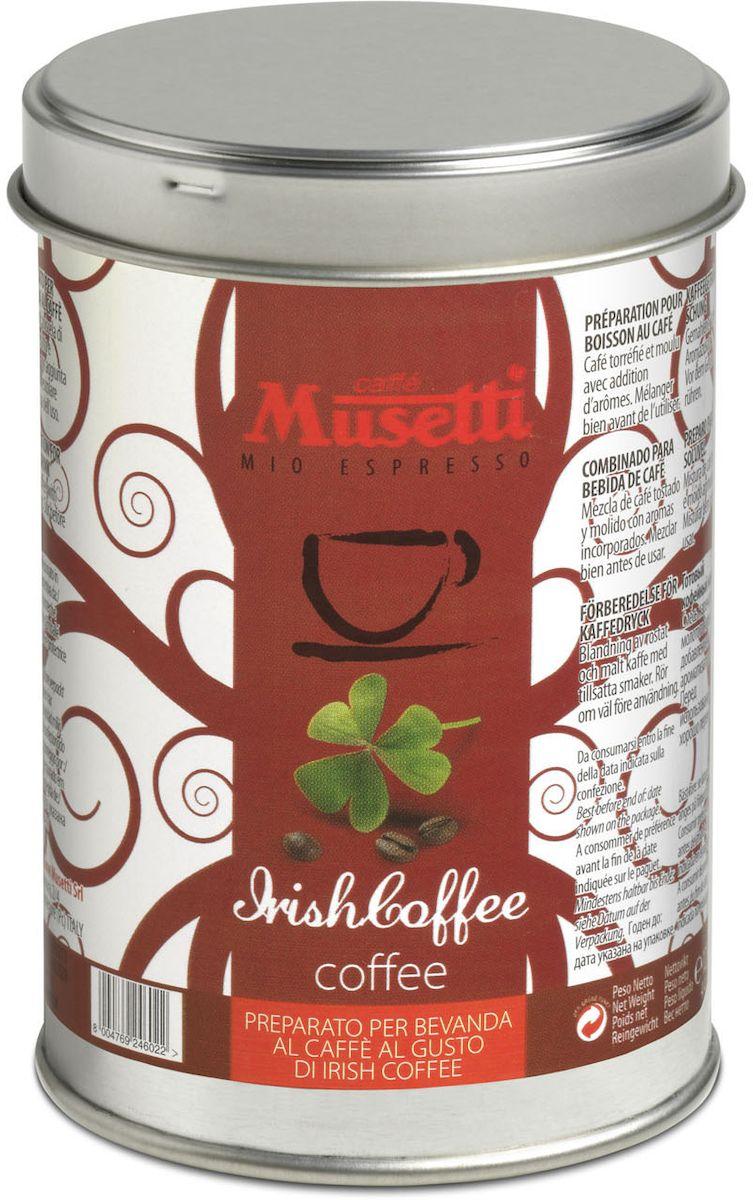 Musetti кофе молотый ароматизированный Айриш, 125 г8000604001344Кофе молотый ароматизированный Musetti Айриш - смесь жареного и молотого кофе с добавлением ароматизаторов.Перед использованием хорошо перемешать.