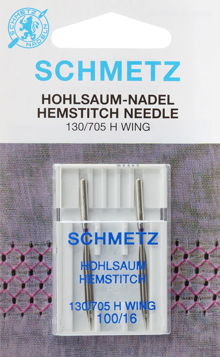 Иглы Schmetz для машинной вышивки в технике мережка, №100, 2 штTD 0350Специальные иглы Schmetz, выполненные из никеля, подходят для бытовых вышивальных машин всех марок. Иглы предназначены для выполнения вышивки в технике мережка на велюре. Каждая игла имеет цветовой код.В комплекте пластиковый футляр для переноски и хранения.Система иглы: 130/705 H WING.Номер иглы: 100/16.