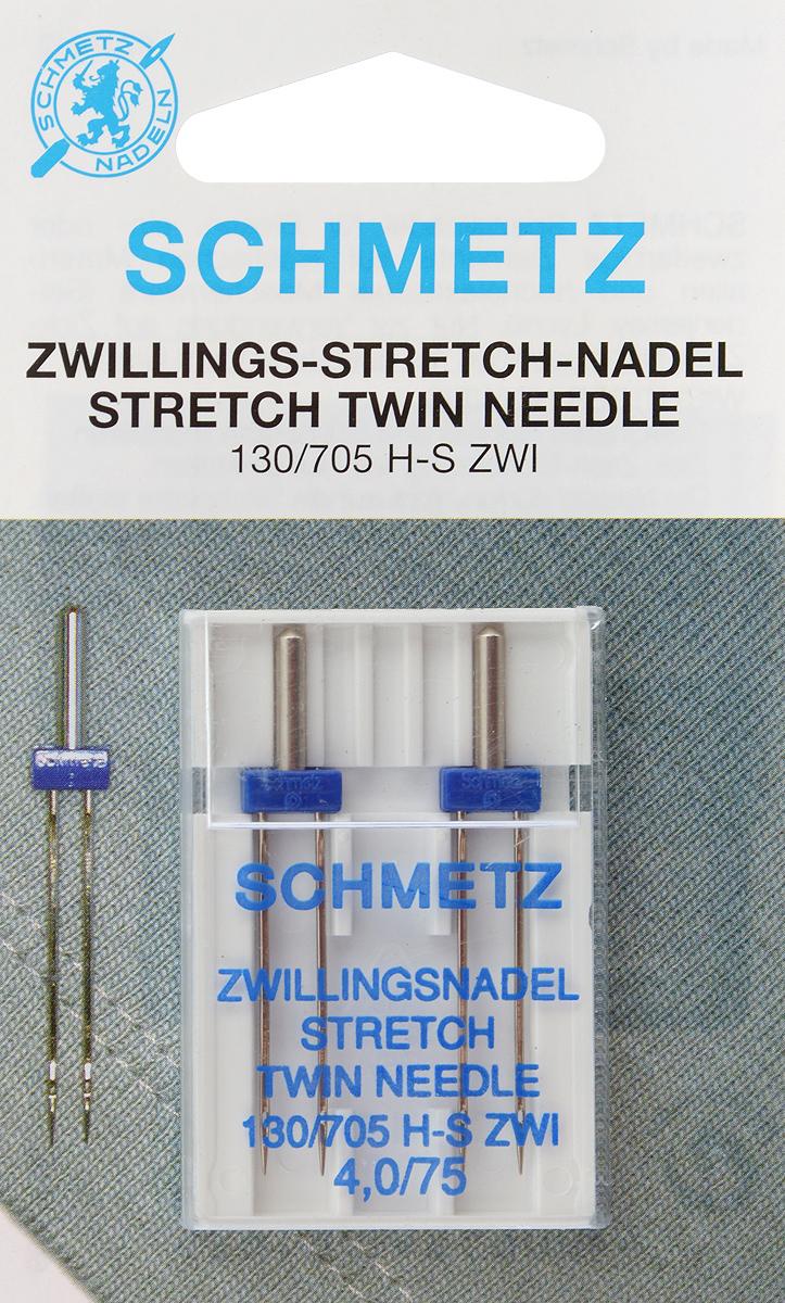 Иглы для бытовых швейных машин Schmetz, для трикотажа, двойные, №75, 4 мм, 2 шт69:40.FB2.DMSСпециальные двойные иглы Schmetz, выполненные из никеля, подходят для бытовых швейных машин всех марок. Они предназначены для декоративной отделки и выполнения защипов на всех трикотажных материалах, а также для подшивания низа изделий.В комплекте пластиковый футляр для переноски и хранения.Система игл: 130/705 H-S ZWI.Номер иглы: 75.Расстояние между иглами: 4 мм.