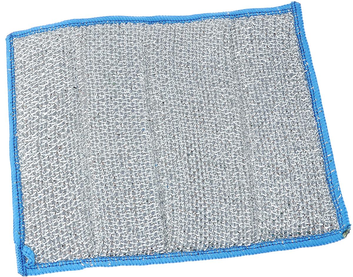 Салфетка для стеклокерамики Хозяюшка Мила, цвет: голубой, белый, серебристый, 23 х 17 смKOC_SOL249_G4Салфетка Хозяюшка Мила предназначена для очистки стеклокерамики от пыли, пятен, жира, копоти, а также для полировки и придания блеска без царапин. Для бережного ухода и качественной очистки салфетка оснащена двусторонней поверхностью. Шероховатая сторона салфетки разработана для качественной очистки поверхности плиты от загрязнений. Гладкая сторона салфетки полирует поверхность, придавая ей блеск. Материал: микрофибра (80% полиэстер, 20% полиамид), поролон, полиэтиленовая нить. Размер салфетки: 23 х 17 см.