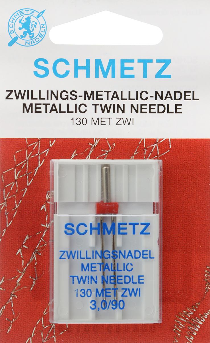 Игла для машинной вышивки Schmetz, для металлизированных нитей, двойная, №90, 3 ммSM 10-09Специальная игла Schmetz, выполненная из никеля, подходит для бытовых вышивальных машин всех марок. Игла предназначена для вышивания металлизированными нитями.В комплекте пластиковый футляр для переноски и хранения.Система иглы: 130 MET ZWI.Номер иглы: 90. Расстояние между иглами: 3 мм.