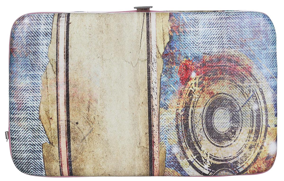 Кошелек женский Модные истории, цвет: мультицвет. 3/0227/604W16-11135_914Практичный кошелек Модные истории изготовлен из искусственной кожи, оформлен оригинальным принтом.Изделие содержит одно отделение, закрывающееся на рамочный замок. Внутри расположены отделение для купюр, отделение с резинкой для фиксации банкнот и 5 кармашков для пластиковых карточек, один из которых с прозрачной вставкой. Кошелек дополнен съемной петлей для переноски на запястье.Практичный аксессуар вместит в себя все необходимое, позволит вам завершить образ и быть неотразимой.