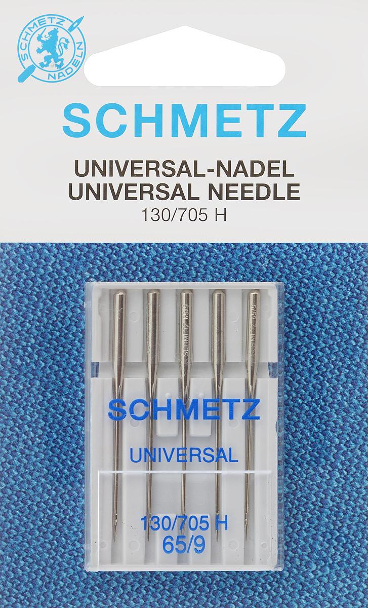 Иглы для бытовых швейных машин Schmetz, универсальные, №65, 5 штSM 10-09Универсальные иглы Schmetz, выполненные из никеля, подходят для бытовых швейных машин всех марок. В набор входят универсальные иглы, которые идеально подходят для всех тканых материалов. Иглы имеют небольшой закругленный кончик, что делает их универсальными в использовании с различными видами тканей.В комплекте пластиковый футляр для переноски и хранения.Система универсальных игл: 130/705 H.Номера игл: 65/9.