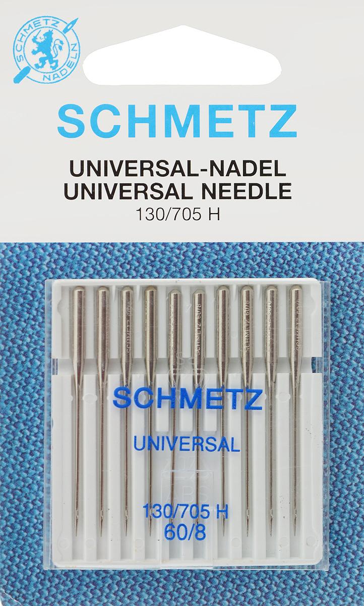 Иглы для бытовых швейных машин Schmetz, универсальные, №60, 10 штSM 10-09Универсальные иглы Schmetz, выполненные из никеля, подходят для бытовых швейных машин всех марок. В набор входят универсальные иглы, которые идеально подходят для всех тканых материалов. Иглы имеют небольшой закругленный кончик, что делает их универсальными в использовании с различными видами тканей.В комплекте пластиковый футляр для переноски и хранения.Система универсальных игл: 130/705 H.Номера игл: 60/8.