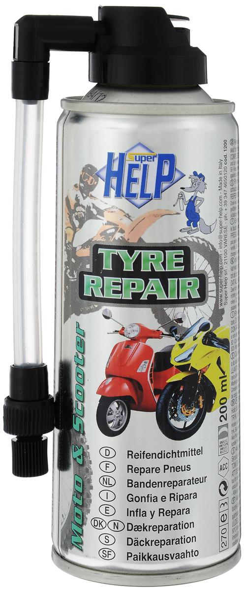 Средство для ремонта шин мотоцикла и скутера SuperHelp Антипрокол, 200 млPANTERA SPX-2RSСредство SuperHelp Антипрокол предназначено для быстрого и без демонтажа ремонта и накачивания колеса мотоцикла и скутера, как с камерой, так и без. Действует путем образования специальной пленки,обеспечивающей эффективную герметизацию прокола.