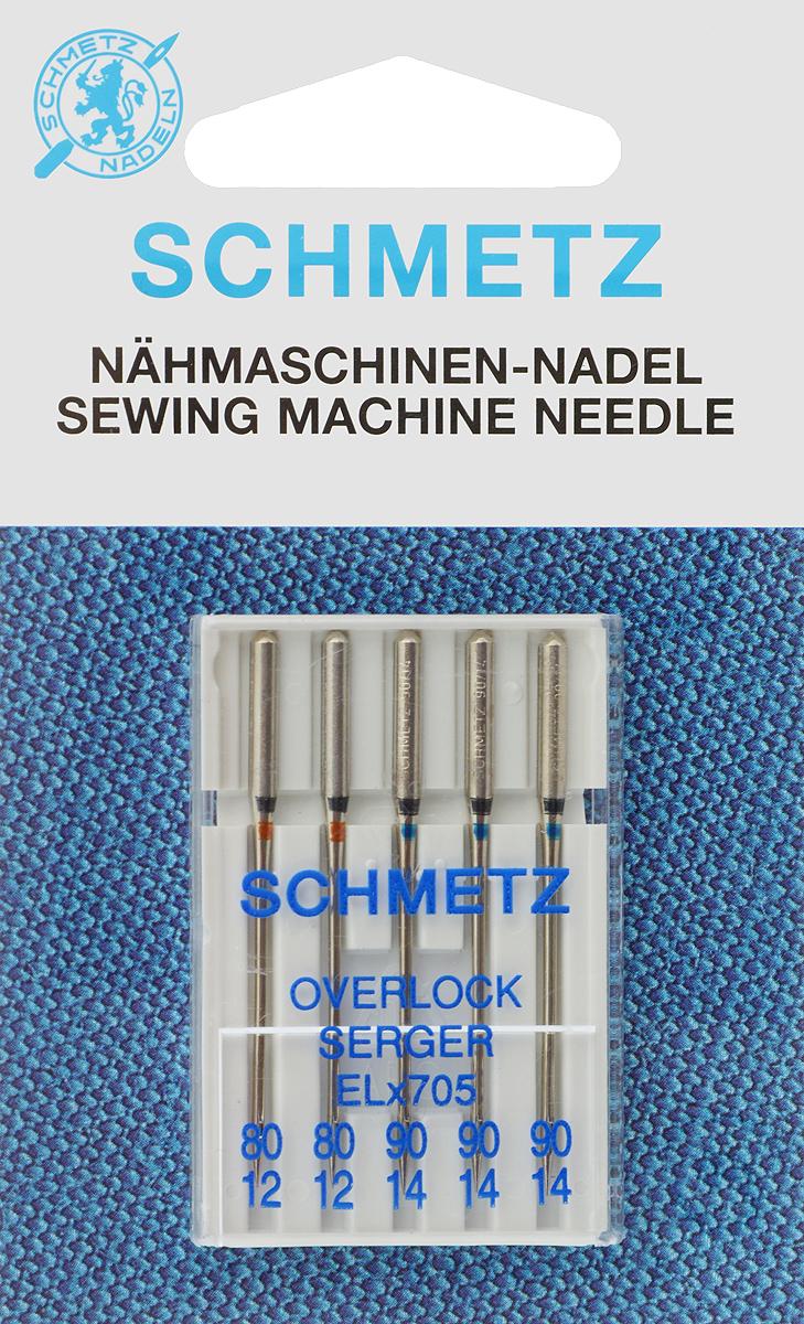 Иглы для оверлоков Schmetz, №80, 90, 5 штKT-508-3 бело-фиолетовыйСпециальные иглы Schmetz, выполненные из никеля, подходят для оверлоков всех марок. В набор входят иглы, которые идеально подходят для обметывания срезов текстильных материалов. Каждая игла имеет цветовой код.В комплекте пластиковый футляр для переноски и хранения.Система игл: ELx705.Номера игл: 80/12 (2 шт.), 90/14 (3 шт.).