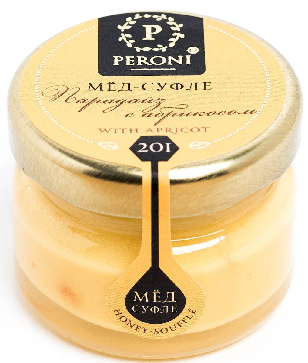 Peroni Парадайз с абрикосом мёд-суфле, 30 г0120710Мёд-суфле с сушеным абрикосом — не только вкуснейшая новинка в медовом мире, но и настоящий помощник здоровью и красоте.Мед солнечного, молочно-абрикосового цвета. Аромат тонкий и выразительный, по характеру цветочно-сливочно-фруктовый. Основная нота принадлежит свежему абрикосу, фруктовому йогурту. В нежном медовом суфле встречаются маленькие кусочки кураги, которые создают абрикосовые акценты.Вкусовые характеристики меда и абрикоса проявляются комплексно, они близки и идеально дополняют друг друга, создавая гармонию. Вкус меда чрезвычайно динамичен: сливочная атака сменяется интенсивной цветочно-фруктовой волной, оставляя в завершение пряно-абрикосовый акцент. В целом вкус мёда-суфле освежающий и бодрящий. Обволакивающая сладость меда уравновешивается бодрящей фруктовой свежестью. Создается ощущение легкости и прохлады.Для получения меда-суфле используются специальные технологии. Мёд долго вымешивается при определенной скорости, после чего его выдерживают при температуре 12-14 градусов по Цельсию, тем самым закрепляя его нужную консистенцию. Все полезные свойства меда при этом сохраняются.