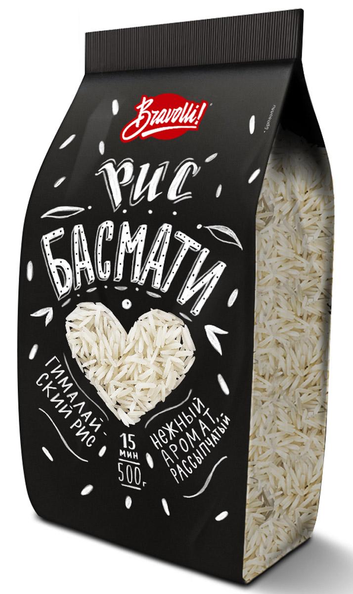 Bravolli Басмати рис, 500 г0120710Нежный, рассыпчатый, с тонким природным ароматом рис Басмати - отличная альтернатива обычному белому рису в любых блюдах.