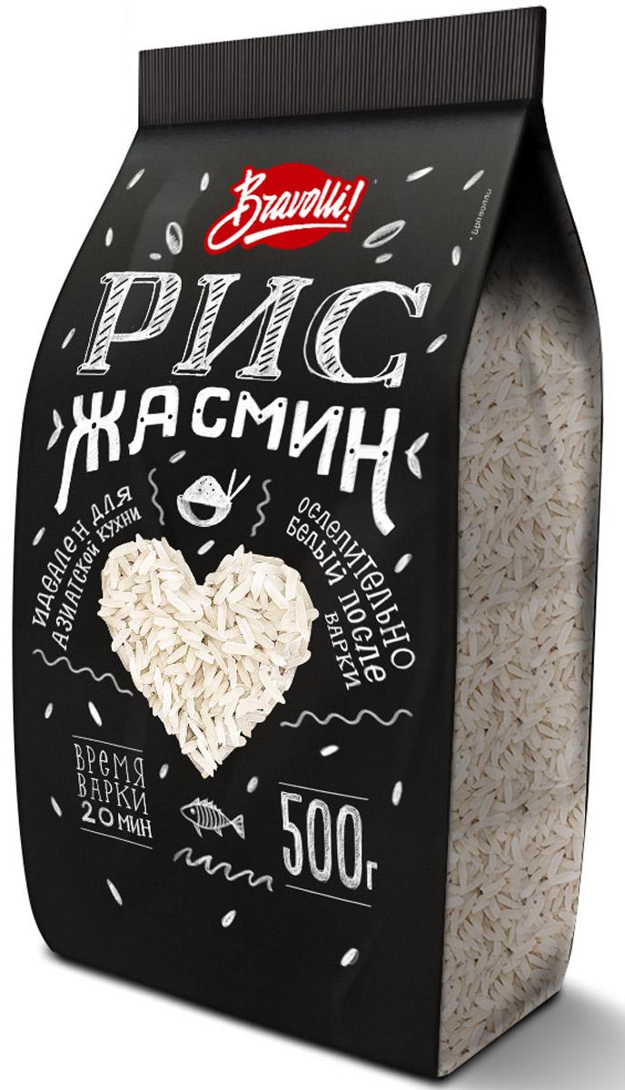 Bravolli Жасмин рис, 500 г0120710Рис Жасмин - белый длиннозерный рис, который обладает природным (натуральным) ароматом, напоминающим благоухание белого цветка жасмина.
