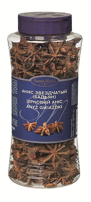 Santa Maria Анис звездчатый (бадьян), 200 г17161Анис используется для приготовления глинтвейна, холодного чая, десертов, декорирования блюд.