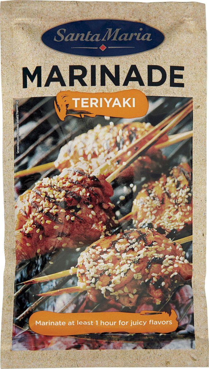 Santa Maria маринад Терияки, 75 г8277Классический японский маринад придает неповторимый вкус и густую консистенцию блюдам из любого вида мяса, рыбы и овощей.Уважаемые клиенты! Обращаем ваше внимание, что полный перечень состава продукта представлен на дополнительном изображении.